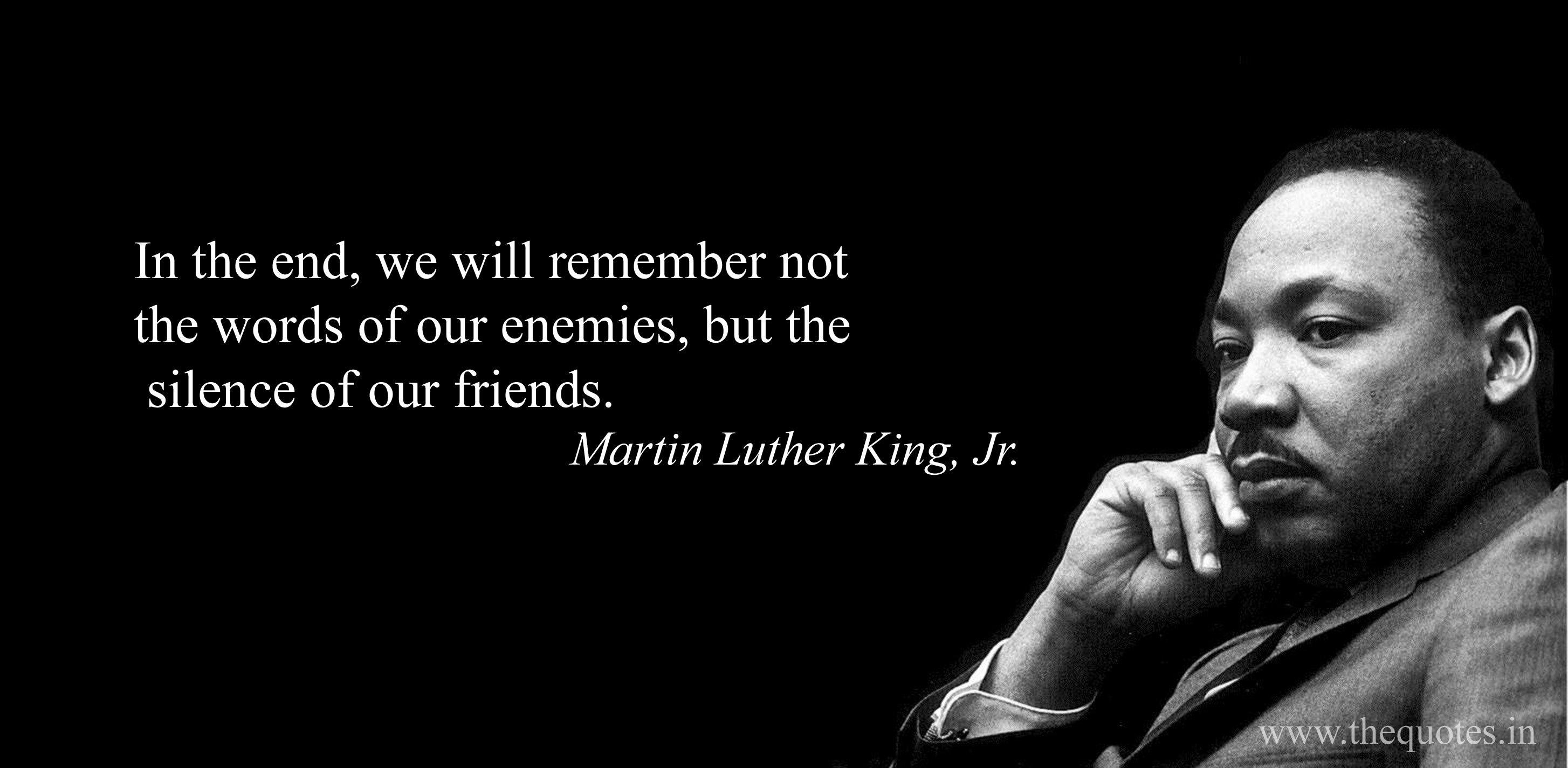 mlk silence quote 2017
