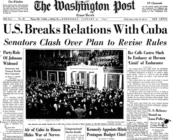 wapo-1961-us-breaks-relations-with-cuba