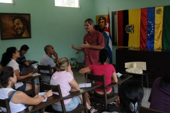 Class at Universidad Carlos Rafael Rodriguez