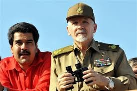 Nicolas Maduro and Cuban General Ramiro Valdez in Venezuela