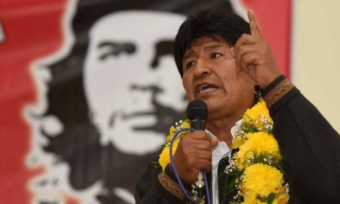 Image result for Evo Morales speaking of cuba