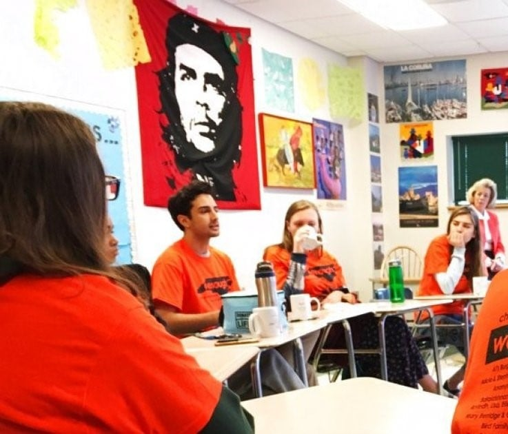 Is Che Guevara the new poster child for anti-NRA high school protesters? |  Babalú Blog