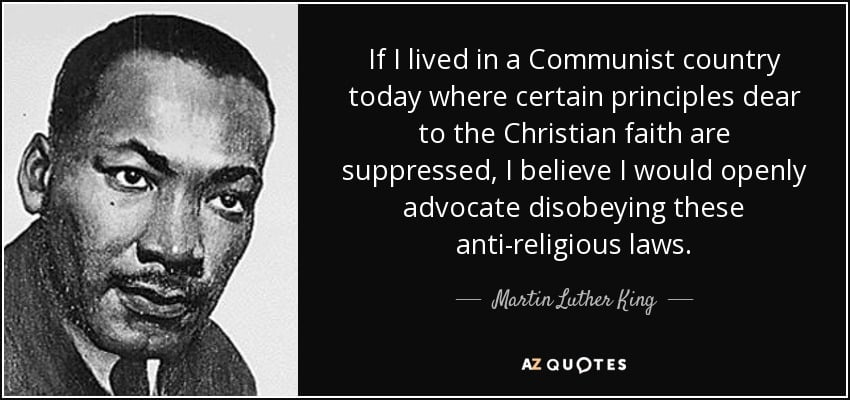 Quote Of The Day Martin Luther King Jr On Religious Freedom And
