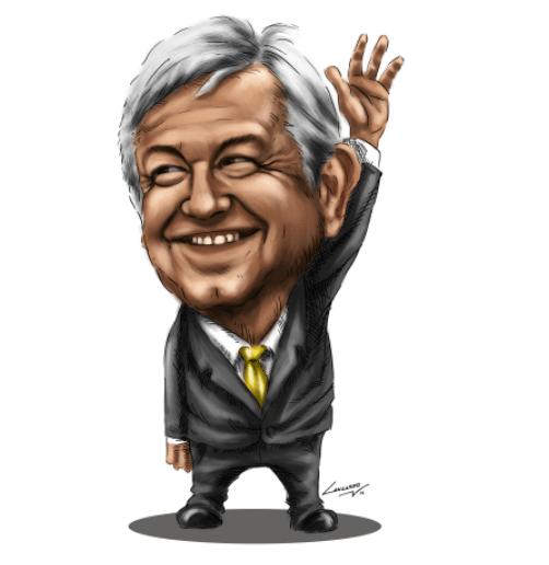 Image result for lopez obrador cartoons