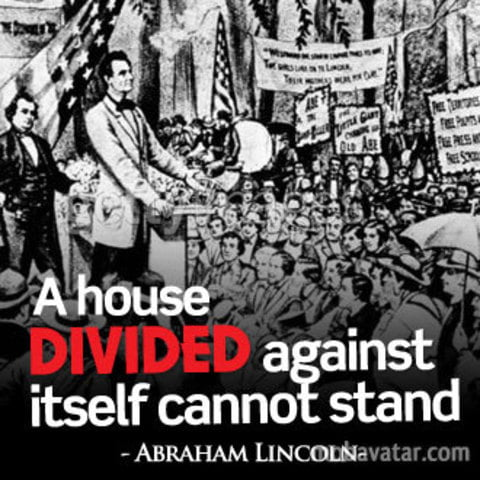 1858: Lincoln Warned About A U201chouse Dividedu201d