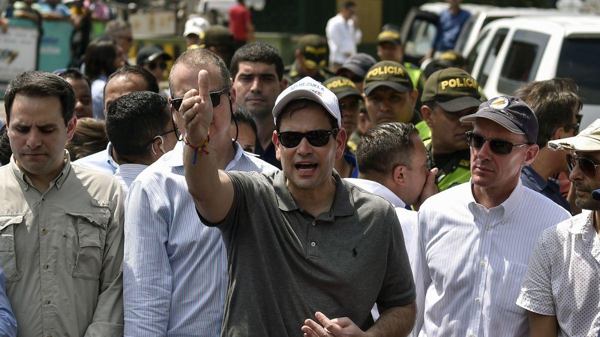 Sen  Marco Rubio travels to border of Venezuela, issues